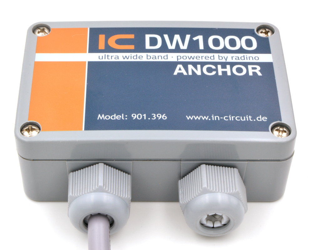 Anchor radino32 DW1000 für Ranging und RTLS, Ultra Wideband (UWB), IEEE802.15.4-2011 compliant, 3.5-6.5GHz