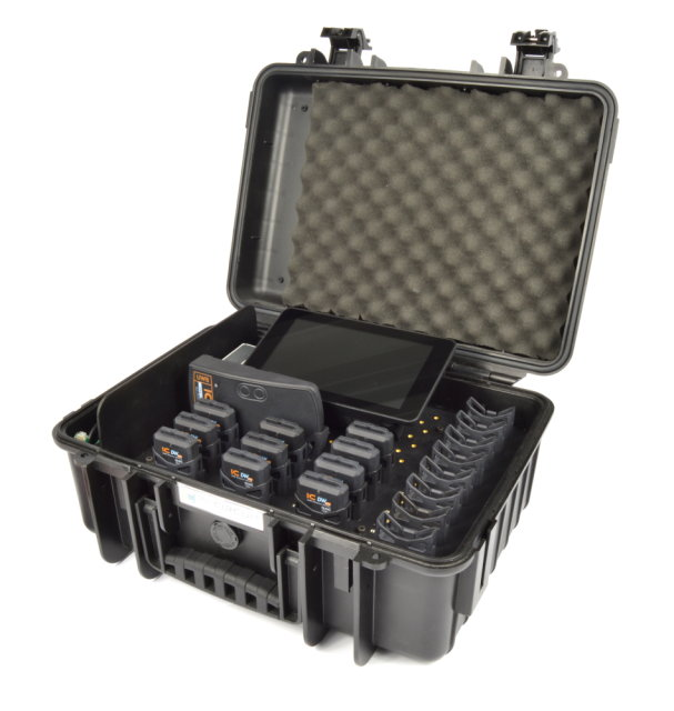 ICDWpro Starter Set, complete Contact Tracer System: 10 tags, basesstation, charging case, 2D barcode reader