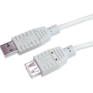 USB2.0 Extension Cable, A plug to A socket, 1,8m