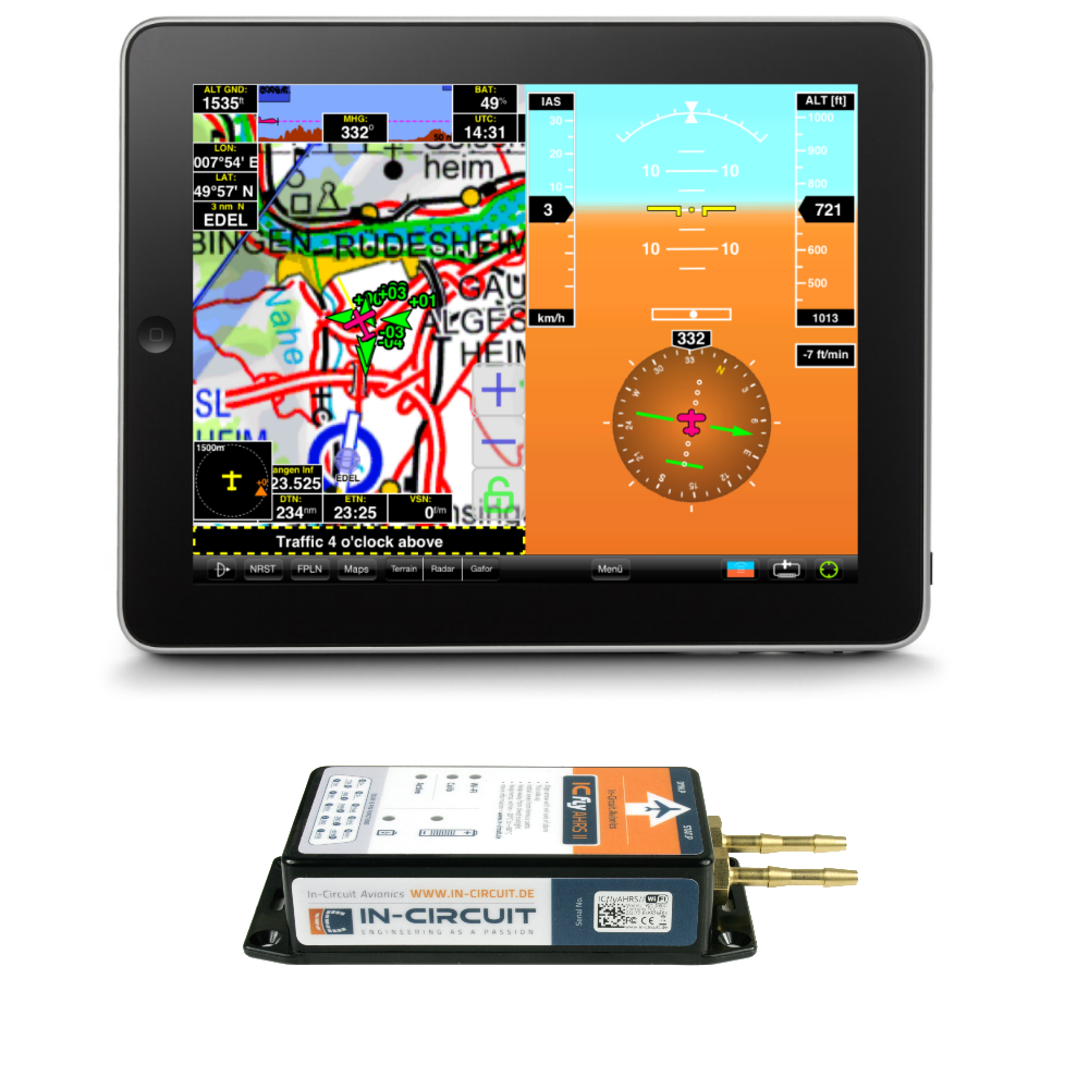 ICflyAHRS II WiFi Attitude Heading Reference System with 2xRS232-WiFi bridge