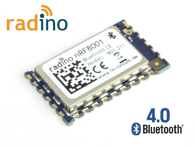 radino nRF8001, Bluetooth-Low-Energy, 2.4GHz