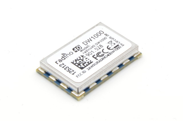radino40 DW1000 for Ranging and RTLS, Ultra Wideband (UWB), IEEE802.15.4-2011 compliant, 3.5-6.5GHz, Bluetooth
